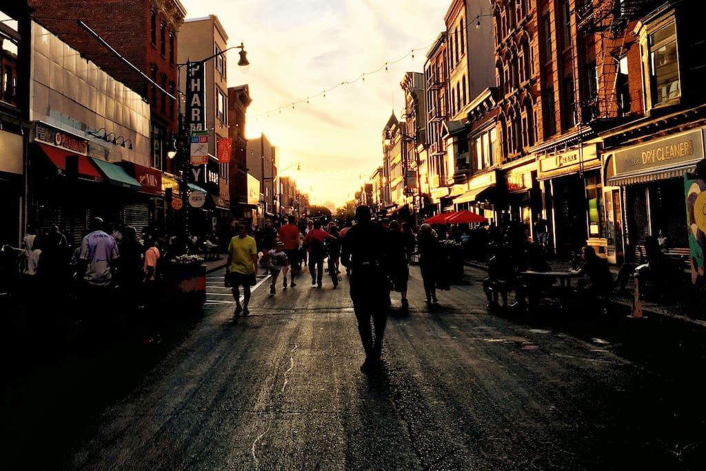 Grove Street - Jersey City at sunset