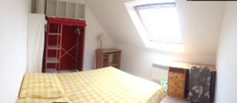 chambre privée dans une maison avec jardin