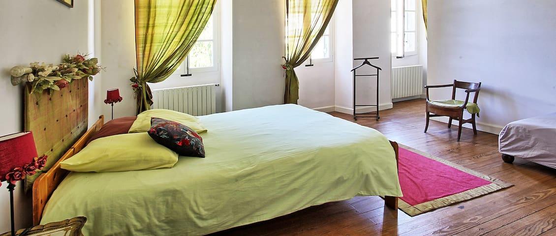 Chambre au Chateau de Laubardemont - Sablons - Slott