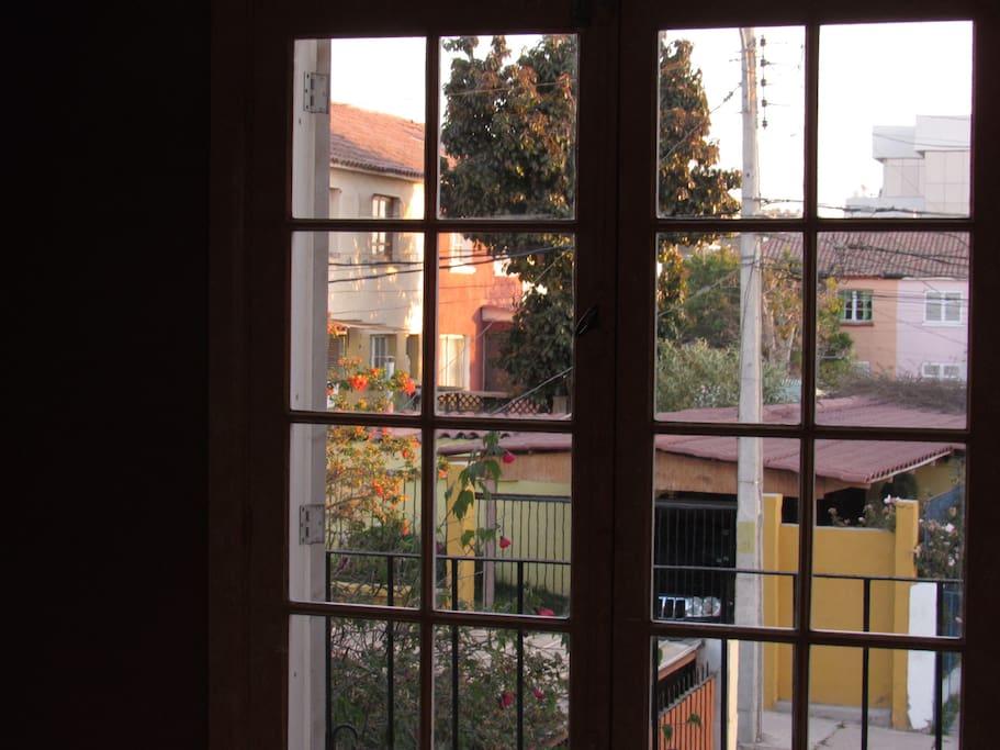 Vista hacia el sur con un balcón. South View