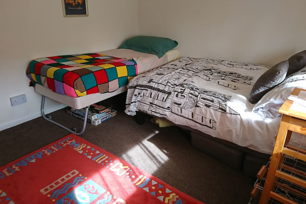 Option of an additional bed - please enquire before requesting to book as availability depends on whether the smaller room is not booked for two people.