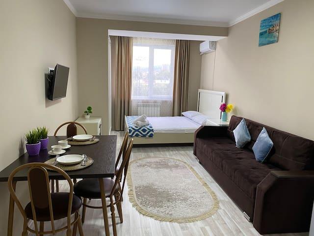 Оригинальная 1 ком квартира в сердце Алматы