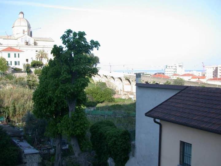 Villetta con Terrazzo,posto auto e vista mare