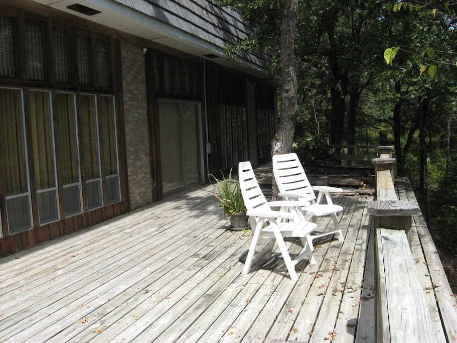 Deck on east side of house