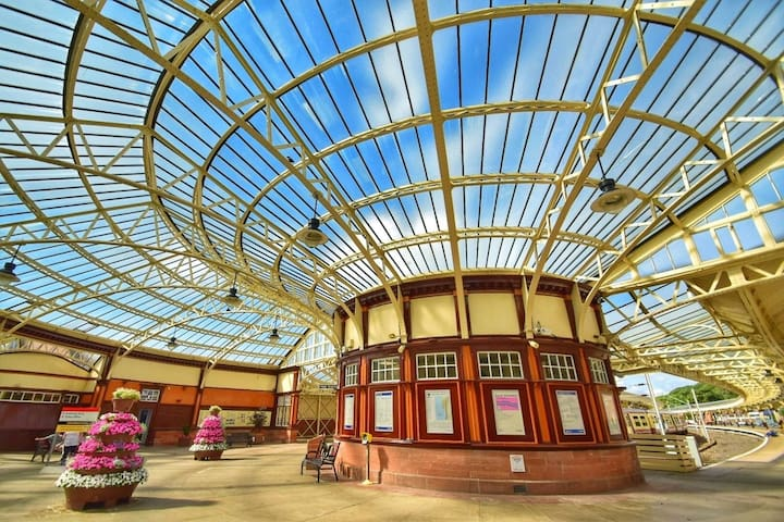 The magnificent train station at Weymss Bay, was recently restored to its Victorian Splender. There is an hourly direct service to and from Glasgow. Situated directly next to the ferry terminal, it makes for a very pleasant gateway prior to boarding.