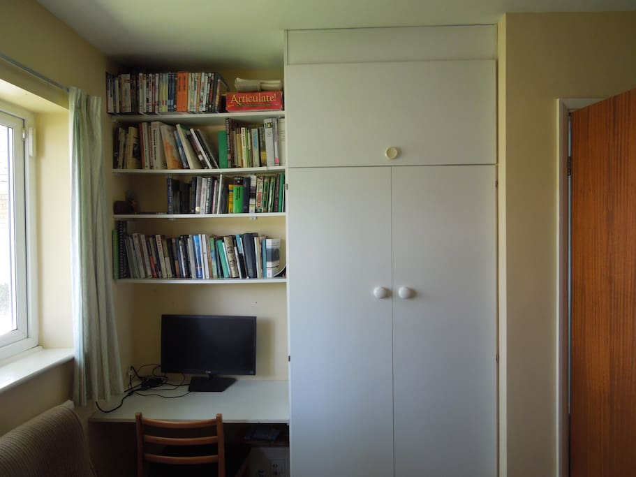 desk and wardrobe in the bedroom