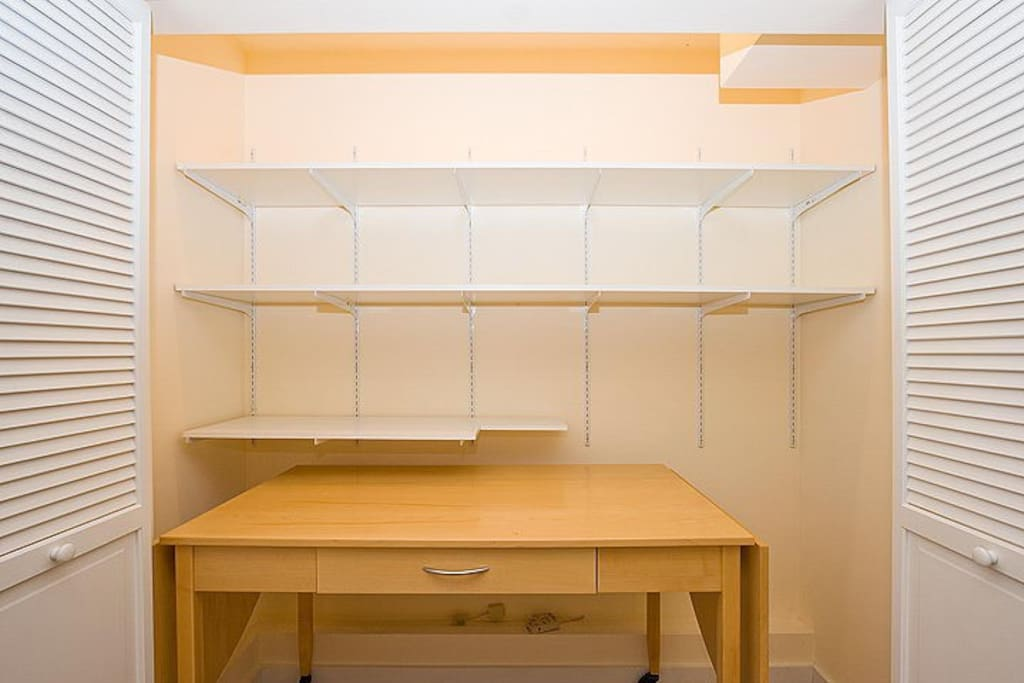 Desk and Large Closet Space