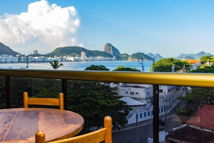 LUX RIO 10 - Flat 2 suites vista praia e piscina