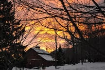 Winter sunsets are special.