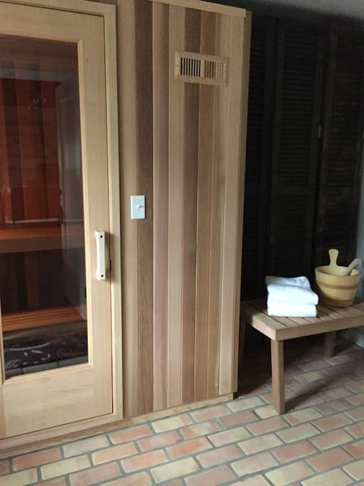 Private sauna right outside your door