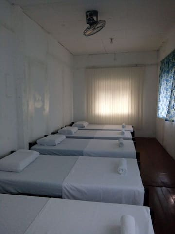 Room w 6 beds, own TB in city center:PHP 250/pax