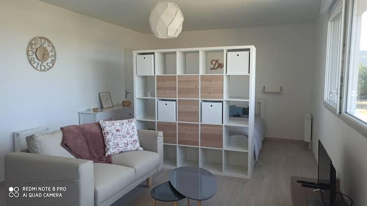 Grand studio, cosy de 37m2, Angers Ecouflant, 2 *