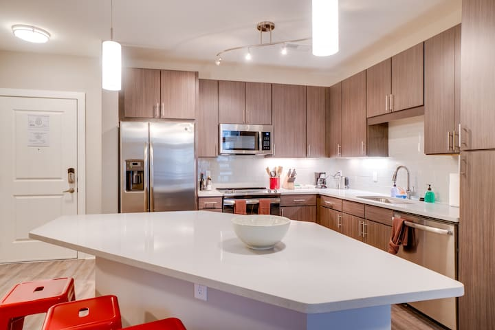 Sleek & Stylish 1BD/1BA - Across from Fluor Park!