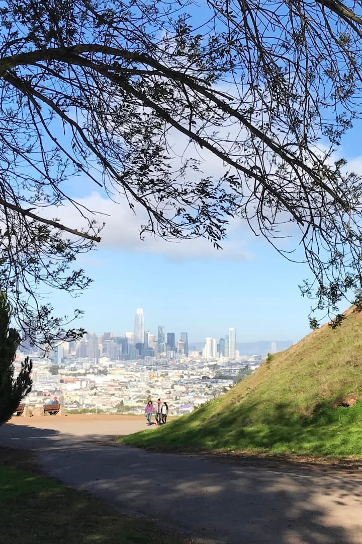 Sweeping views of SF from mindful moment