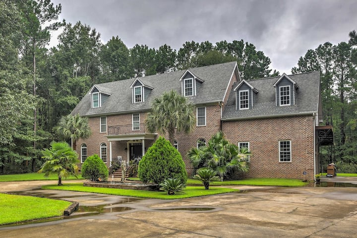 Luxury Home Near Mount Pleasant on 1 Acre w/ Pond!