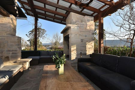 Millfield Eco Lodge with views, and inside/outside hangouts