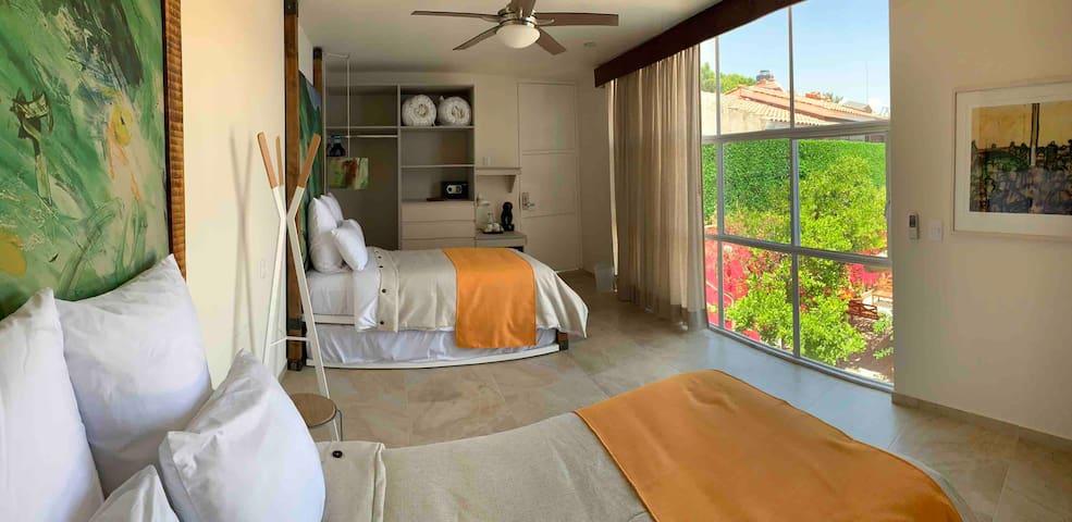 CK 8 Habitación doble duo bed a 5 min de la Feria