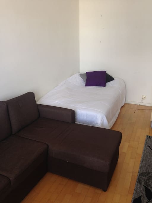 120cm bed and a pull out couch
