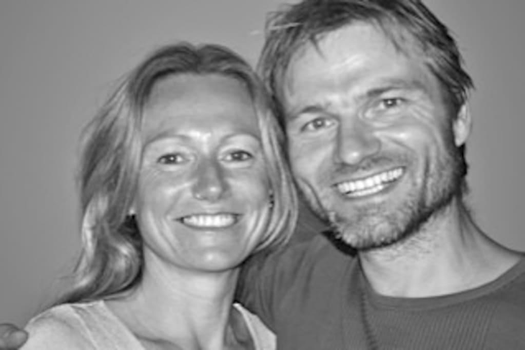 Jeres værter Samantha  &Morten