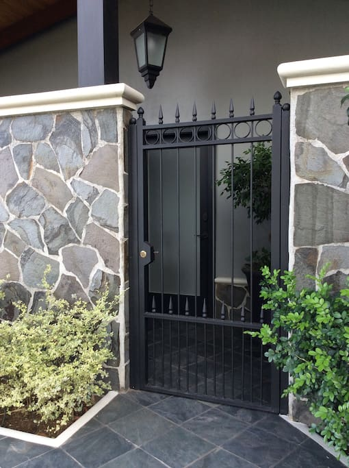 Private and lockable gate into apartment