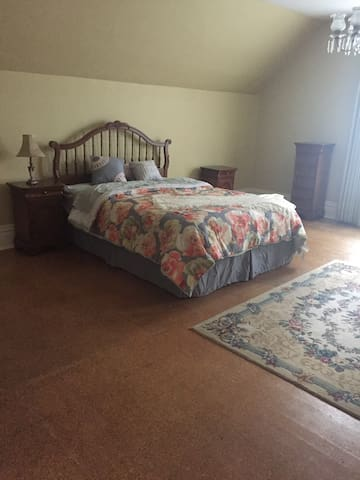 Master Room with Queen size Bed and a couch pull out queen w/ memory foam mattress