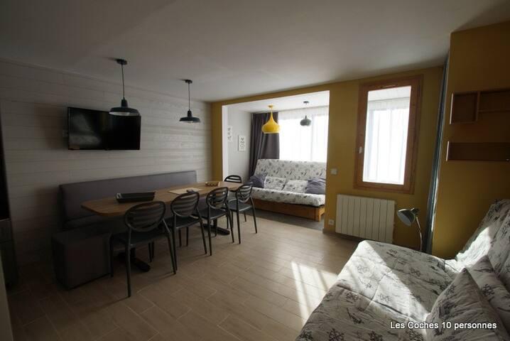 Appartement 8/10 pers La Plagne - Les Coches - Flat