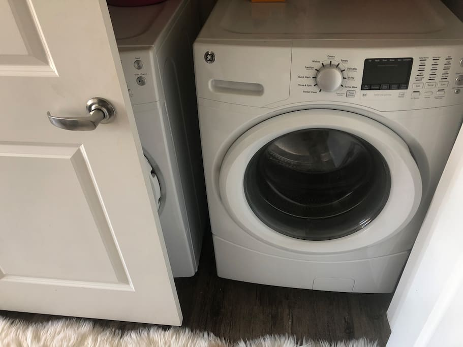 Full size washer and dry
