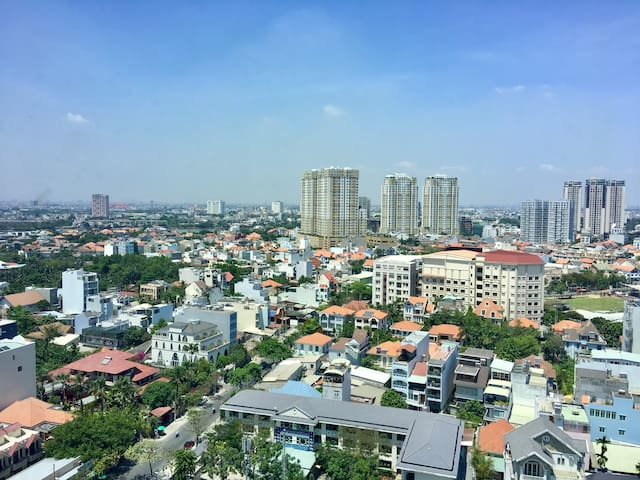 High floor condo. Great view. Center of Thao Dien