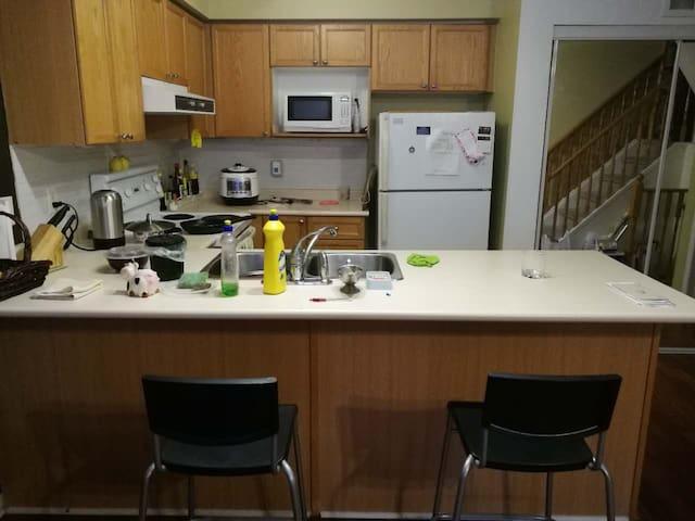 Kitchen on main level