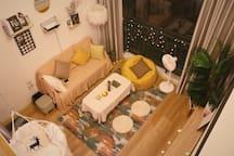 【Bolero】Loft阳光落地窗,浪漫小清新,CBD中央商务区,10分钟到五四广场台东步行街,地铁