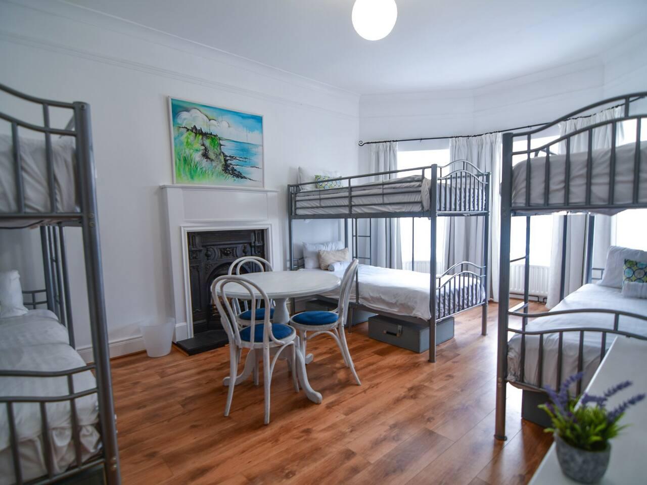 Private Room (sleeps 4, 5 or 6 people) - shared bathroom