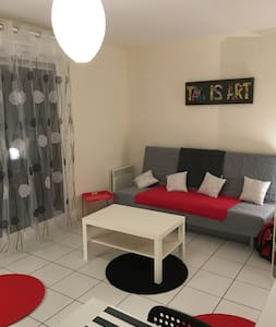 GRAND STUDIO MEUBLE TERRASSE - Cergy - Apartment
