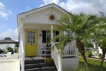 Home has a Florida cottage feel and look.
