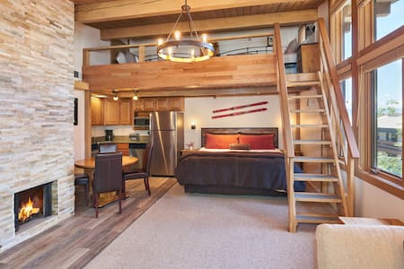 Studio w/ Loft Has 3 Beds & Steps to Mountain
