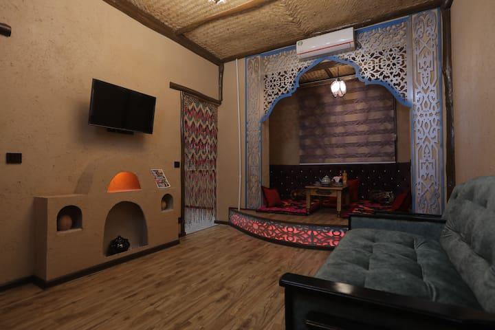 Apartment with art design in Uzbek style.