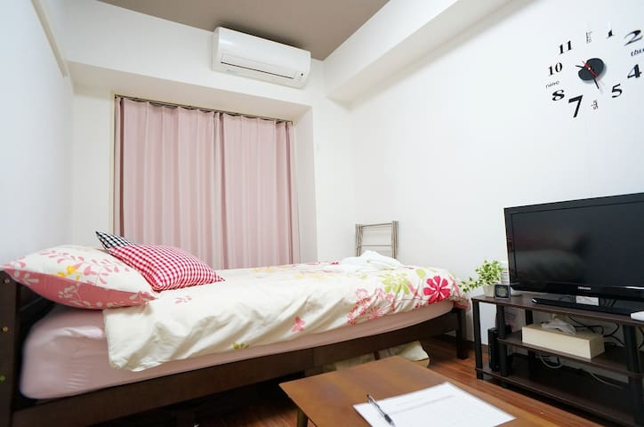 L-204 Near Hiroshima castle, Up to 3 Person.WIFI