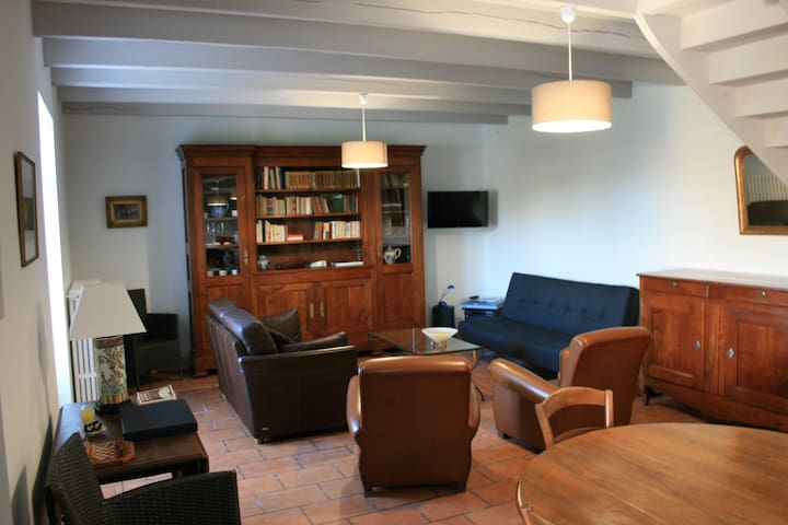 maison pleine nature bois etangs - Le Vigeant - 산장