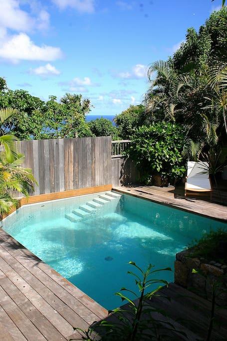 La piscine vue des 2 chambres