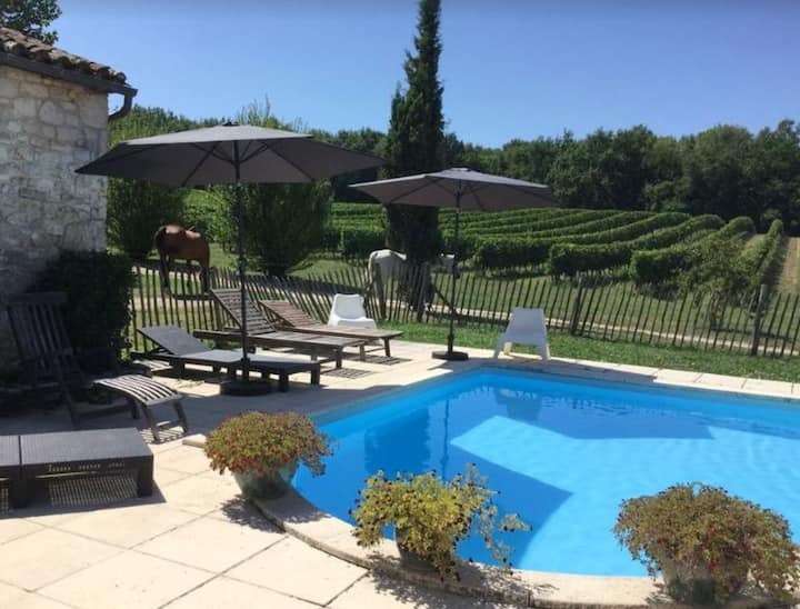 Villa with 3 bedrooms in Sigoulès, with private pool and furnished garden