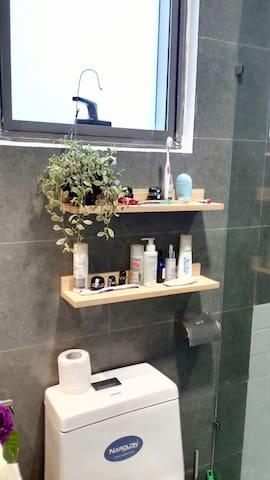 A corner of the bathroom