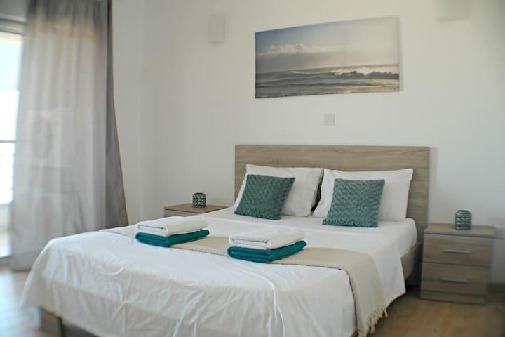 Panoramic side sea view 2BR beach apartment AURA