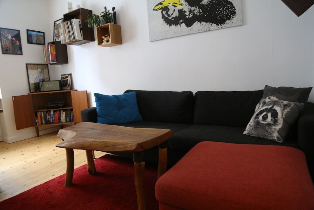 The sofa will also work as the third bed in the apartment