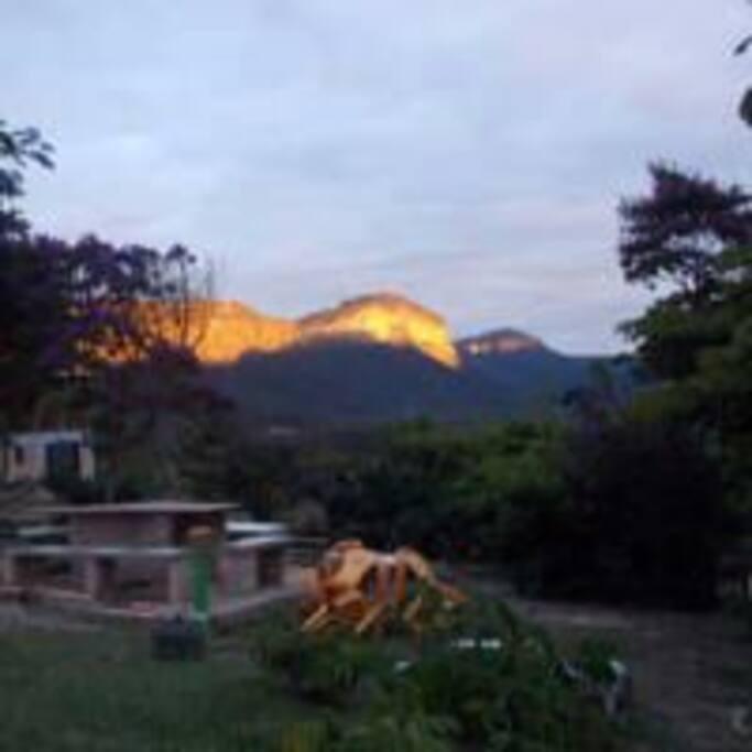 vista por do sol do Morro Branco
