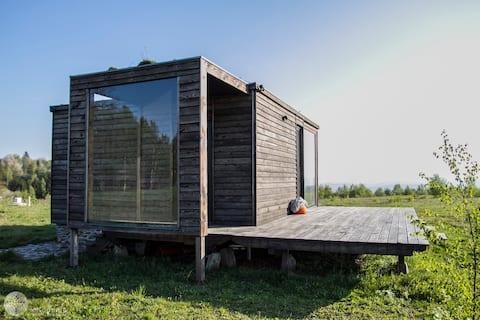 BioDomek, ein natürliches, gemütliches Haus mit toller Aussicht