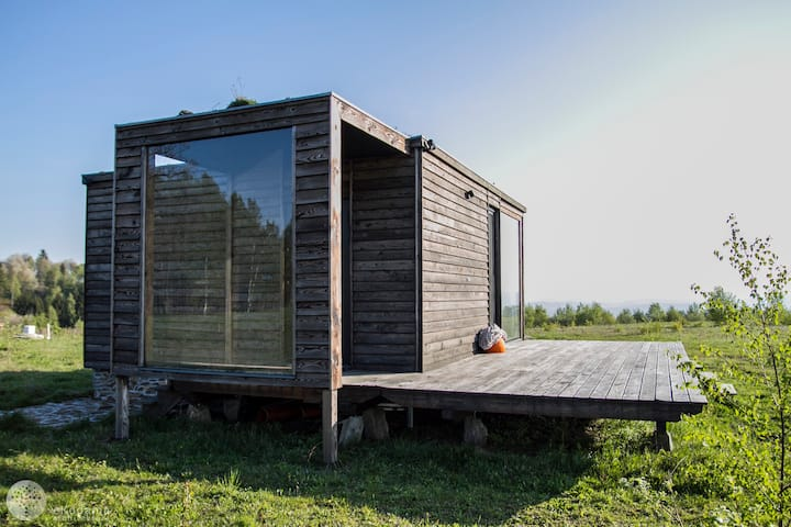 BioDomek, a natural, cozy house with great views