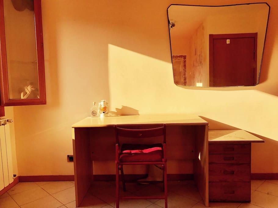 A desk , laptop friendly space