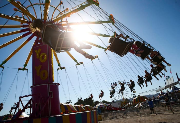 Clark County Fair, July 20-27. The fairgrounds is just 15 minutes from our house!