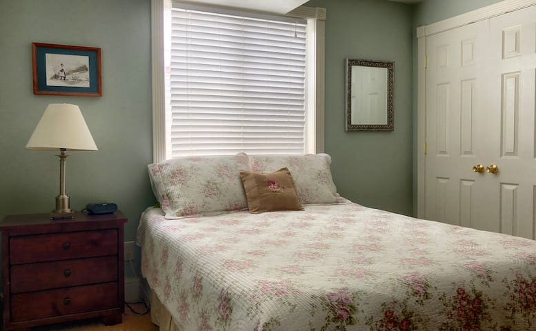 Second of two bedrooms in the basement with a comfortable queen bed.