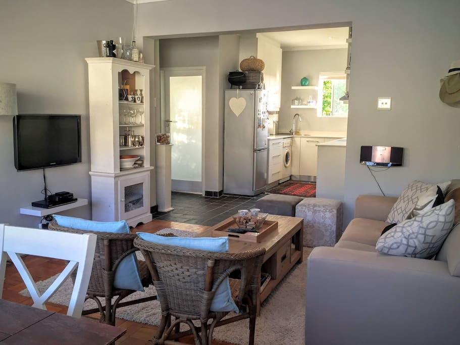 Open plan living area with Dstv