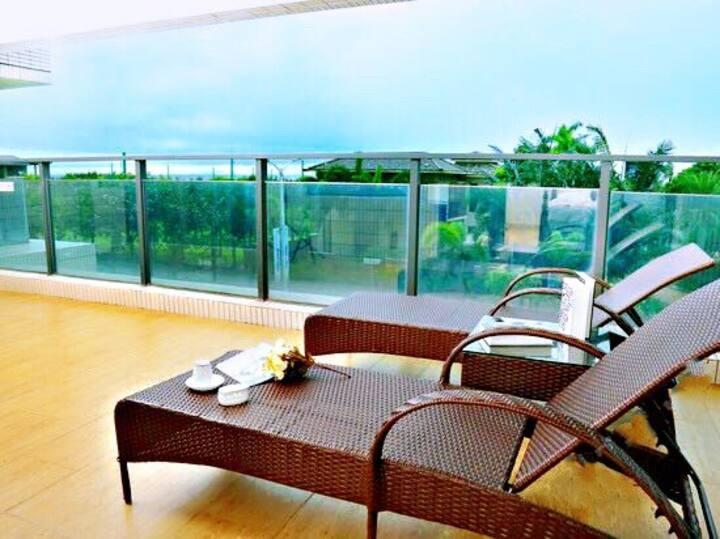 阳江海陵岛十里银滩夏威夷度假公寓一线海景,楼下50米即为沙滩和保利皇冠酒店海王星酒店享用同一沙滩,